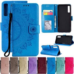Pour-Samsung-Galaxy-A7-A30-A50-Magnetique-Flip-Stand-Carte-Portefeuille-Cuir-Housse