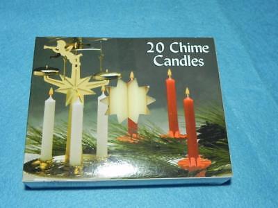 "Box of 20 Christmas Angel Chime Candles NIB 1//2/"" by 4/"" tall Dripless Pink"