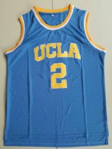 Mens-Lonzo-Ball-2-UCLA-College-Basketball-Jersey-Throwback-Stitched-blue-white