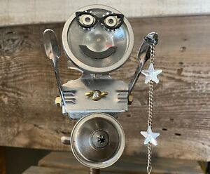 Inspirational Found Object Robot Art. Reach 4 The Stars! Steampunk assemblage