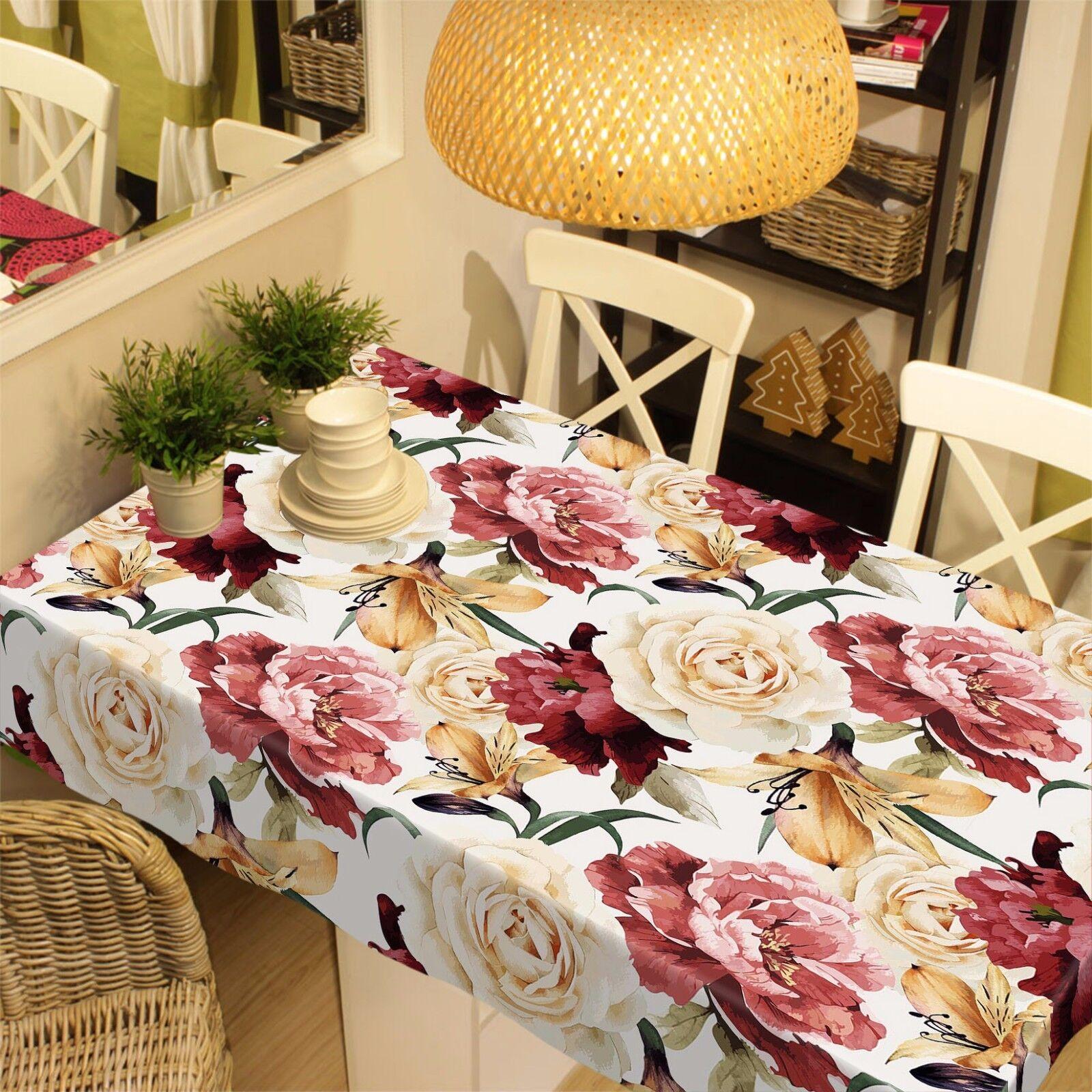 Fleurs 3D 811 Nappe Table Cover Cloth Fête D'Anniversaire événement AJ papier peint UK