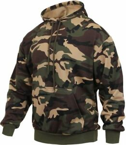 Image is loading Woodland-Camo-Pullover-Hoodie-Quick-Dry-Army-Green- fa6fdb8fa9