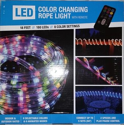 90 Feet LED Color Changing 18ft Rope Light w//remote-6 Animation Modes Waterproof