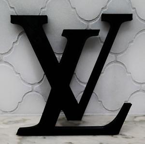 6 inch - Louis Vuitton Logo Symbol Sign Luxury - Black - FREE SHIPPING!