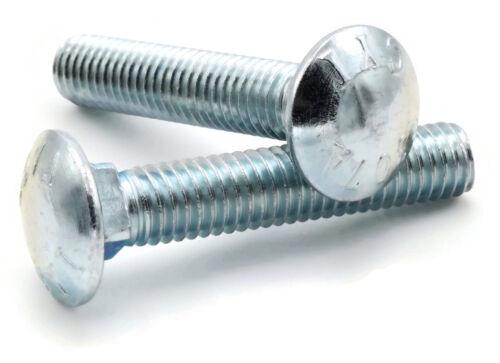 "Qty-100 5//16/""-18 x 5/"" FT Carriage Bolt Zinc Plated Bolts 307A Steel"
