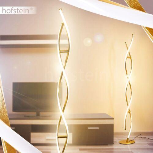 goldfarbene LED Design Steh Stand Boden Leuchten Loft Wohn Schlaf Zimmer Lampen