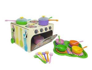Details about Playing Set of Dishes Kitchen From 1 Year Old 43 el Bright  Colors Safe material
