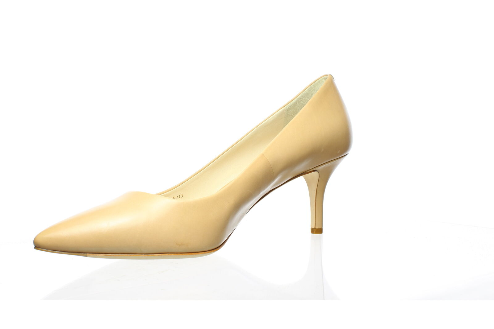 Cole Haan Womens Vesta Nude Leather Pumps Size 11… - image 2