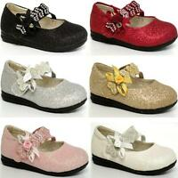 GIRLS WEDDING SHOES BABIES INFANTS PARTY BRIDESMAID FANCY FORMAL BABY SHOES SIZE