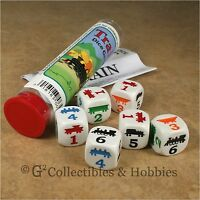 Train Family Dice Game In Tube 6 Sided Die Pocket Travel Koplow
