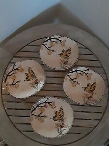 NWT-Set-of-4-Spectrum-Designz-Reactive-Appetizer-Plates-Dessert-Butterflies