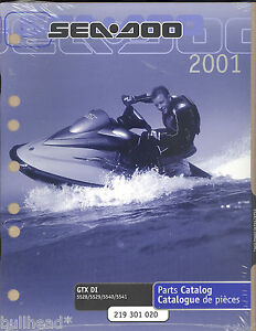 2001 sea doo water vehicles gtx di 5528 5529 5540 5541 jet ski rh ebay com 2000 seadoo gtx di manual 2002 seadoo gtx di manual