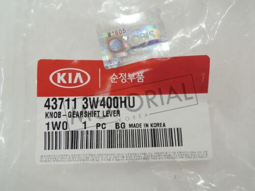 KIA 2011-2015 SPORTAGE Genuine OEM Leather Gear Shift Knob Lever 6-Speed