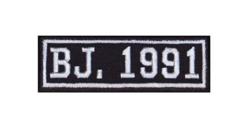 Anno di costruzione 1991 Biker Patch ricamate anni numero anno di nascita ROCKER MOTO MC BJ