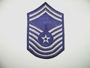 "25 Air Force Senior Master Sergeant E8 Patches-4"" x 6 1"