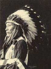 PHOTO BLACK WHITE 1898 INDIAN CONGRESS AFRAID EAGLE SIOUX NATIVE PRINT LV3610
