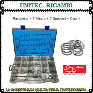 Rasamento rondella di spessoramento in acciaio cassetta n.1 assortimento 420pz