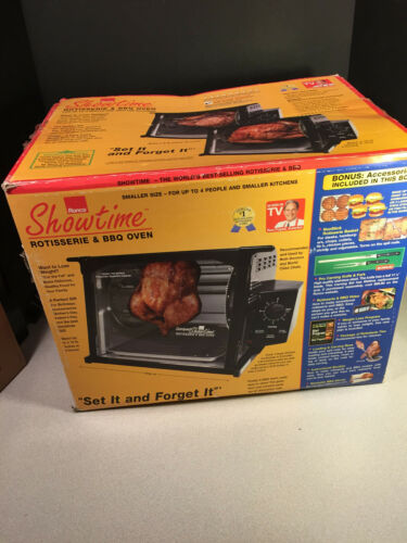 Ronco 3000 Showtime Compact Rotisserie Black NEW