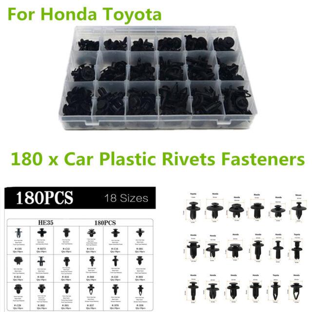 New Trim For Honda Clip Panel Sizes Pin Car Toyota Kit 180x Rivet Push 180pcs