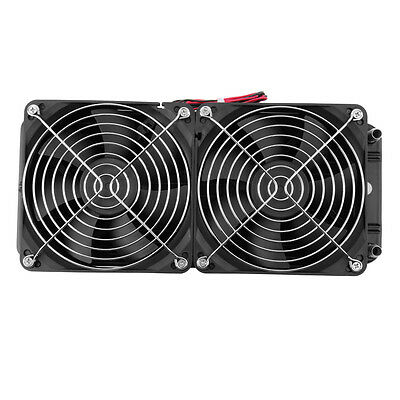 Aluminum 80mm Water Cooling cooled Row Heat Exchanger Radiator+Fan for CPU PC QT