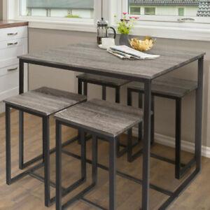 Zenvida-5-Piece-Bistro-Pub-Table-Set-With-4-Stools
