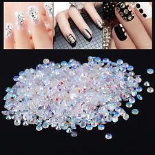 1000 Pcs Crystal Flatback Resin AB Rhinestones For Nail Art Phone Decoration