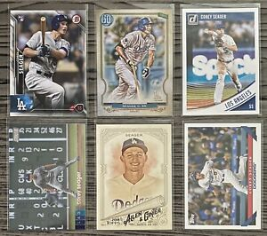 WS-MVP-Corey-Seager-6-CARD-LOT-including-ROOKIE-2016-Bowman-150-LA-Dodgers