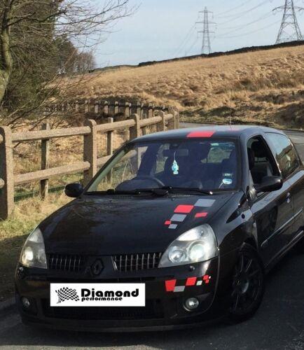 Clio Sport 172 182 16V MK2 negro con textura Limpiaparabrisas Trasero En Blanco//eliminación de moldeo