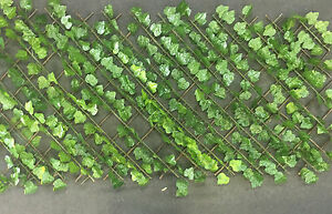 Image Is Loading Trellis Fence Expandable Artificial Ivy Leaf Garden Fence
