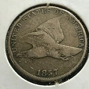 1857 FLYING EAGLE CENT BETTER GRADE COIN