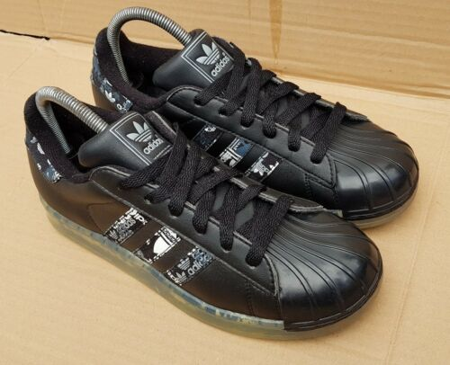 Clr Et Superstar 5 Etat Noir Taille Uk Excellent Semelle Baskets Adidas Blanc Kc31TlFJ
