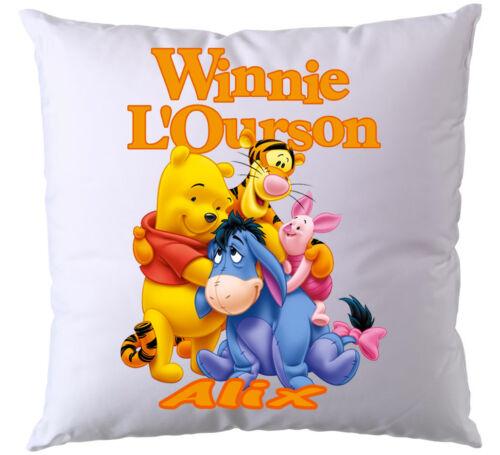 Coussin Winnie l/'Ourson personnalisé avec prénom V1