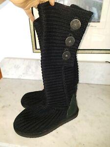 ugg classic cardy black in vendita   eBay