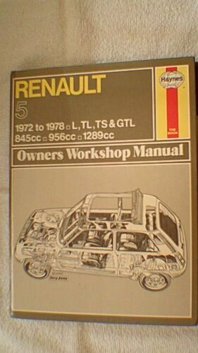 Haynes Officina Proprietari Manuale-RENAULT 5 1972-1978