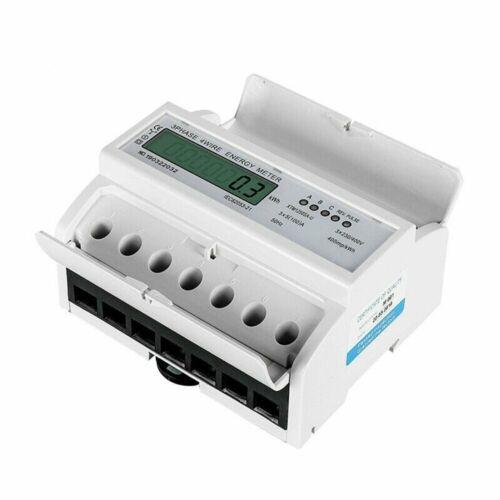 Unterstromzähler LCD Drehstromzähler Hutschiene 5-100A Digital 3-Phasen-4-Draht