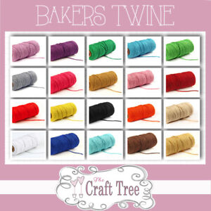 COTTON BAKERS TWINE Cord String - Solid colours and 1, 10, 20, 30, 100 Lengths