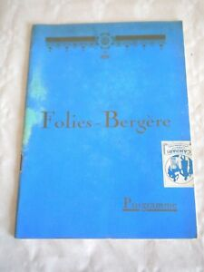 Art Deco Periods & Styles Vintage Programme Theatre Folies Bergère 1925 To Help Digest Greasy Food