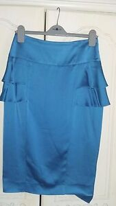 reiss-turquoise-satin-skirt-size-10-would-fit-12
