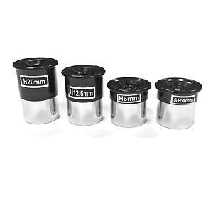 """4 Pièce Oculaire Lentille Set astronomie Télescope 4 mm- 6 mm- 12 mm- 20 mm 1.25"""" pouces-afficher le titre d`origine xYKxZocG-07195735-238849889"""