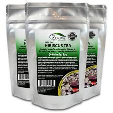 Hibiscus Tea 3-Pack 90 Bags 100% Natural Premium Antioxidant Rich Tea