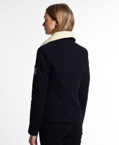 NUOVI Sandali Donna linea donna Superdry Winter Cappotti giacche Lana Trench attiva//disattiva LUSSO Taglie