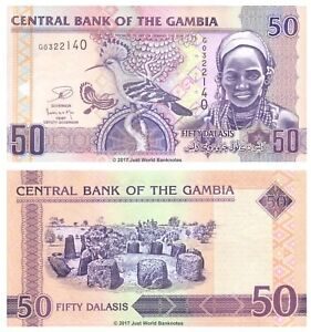 Gambia-50-Dalasis-ND-2013-P-28c-Banknotes-UNC
