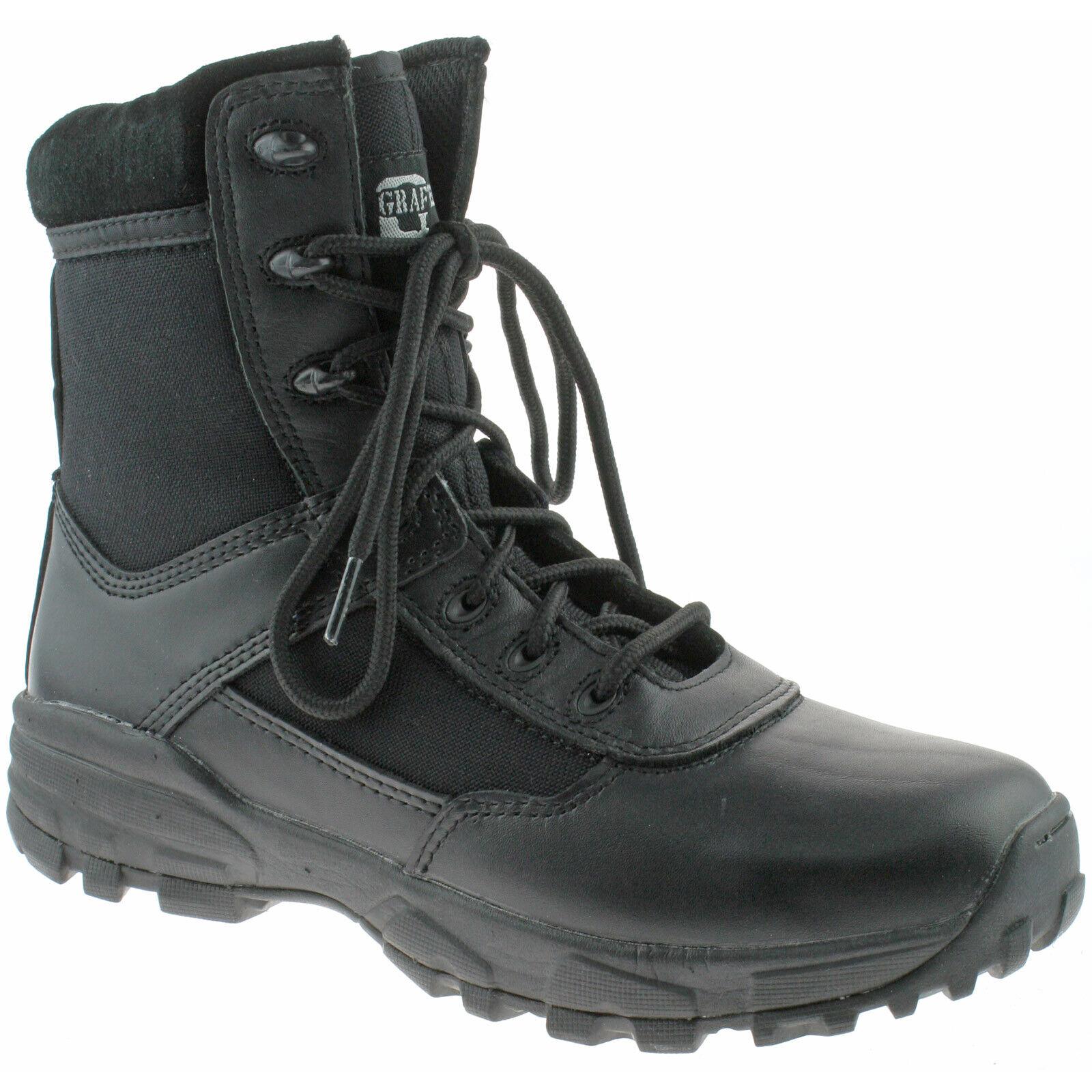 MENS GRAFTERS COMBAT CADET Stiefel Größe UK 3 - 12 NON-METALLIC TACTICAL M489A KD