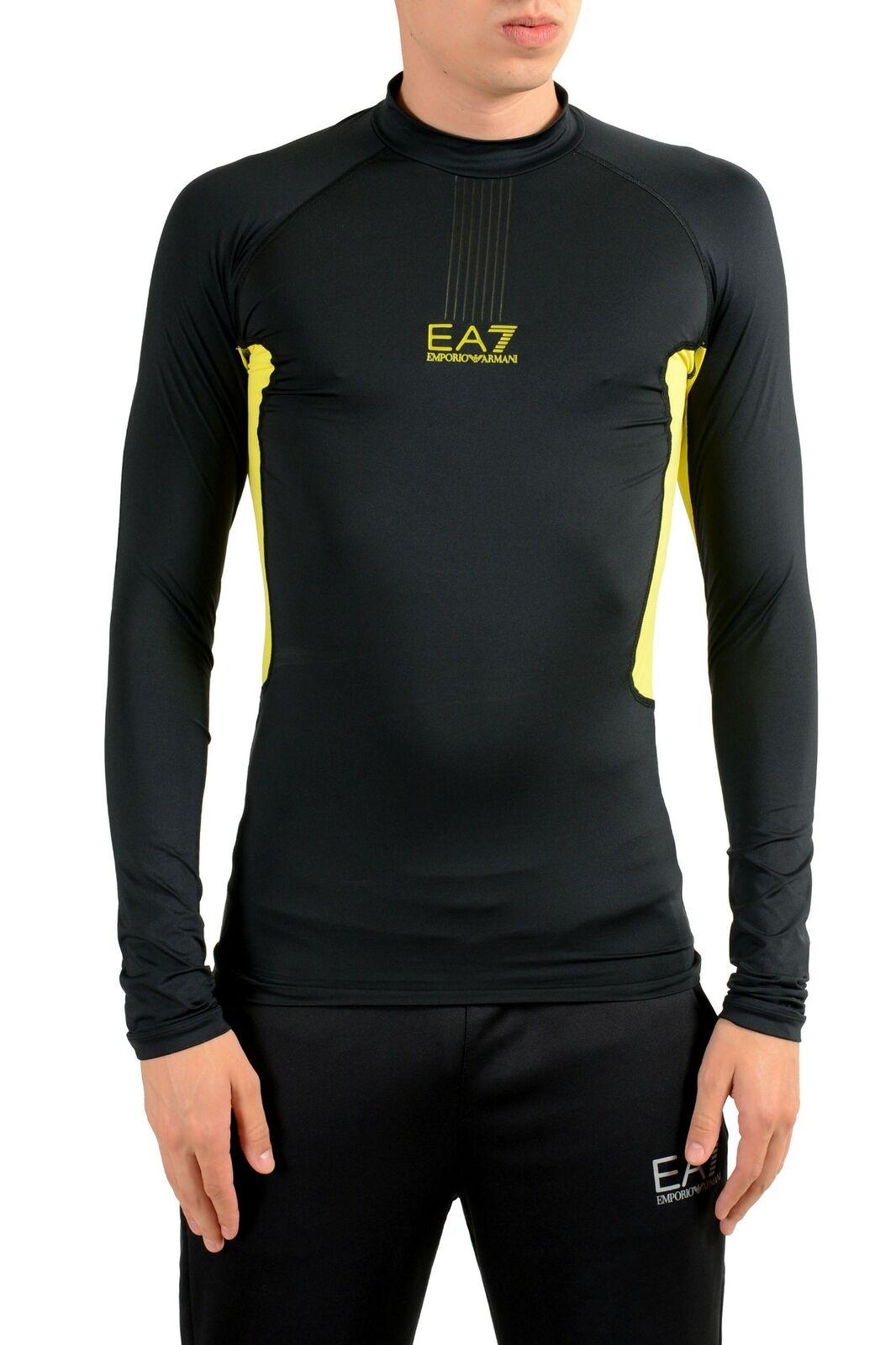 "Emporio Armani EA7 ""Tech M"" Negro para Hombre  Cuello Alto Manga Larga T-Shirt  autentico en linea"