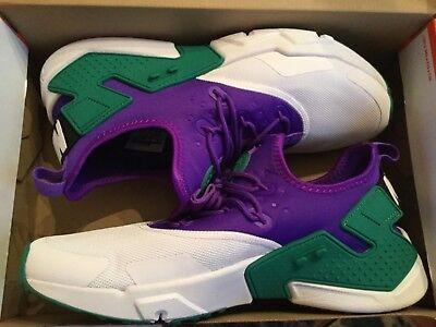 3c1acc3de7f54 Nike Air Huarache Drift Mens Ah7334-500 White Fierce Purple Green Shoes  Size 11
