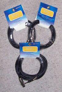 Blocco 3 Cavi MICROFONO Roling's Cavo 5 mt CANNON XLR Femmina / JACK 6,3 - Italia - Blocco 3 Cavi MICROFONO Roling's Cavo 5 mt CANNON XLR Femmina / JACK 6,3 - Italia