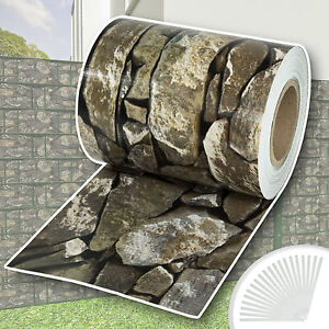Garden-fence-screening-privacy-shade-70-m-roll-panel-cover-mesh-stone-pattern