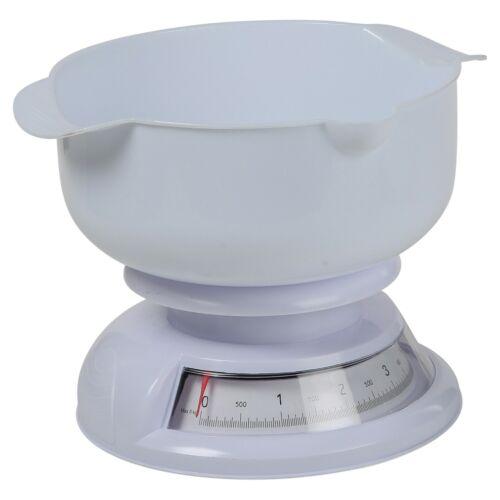 Blanc Classique Analogique Cadran de mesure de cuisson cuisson cuisine échelle avec 5 kg Bol