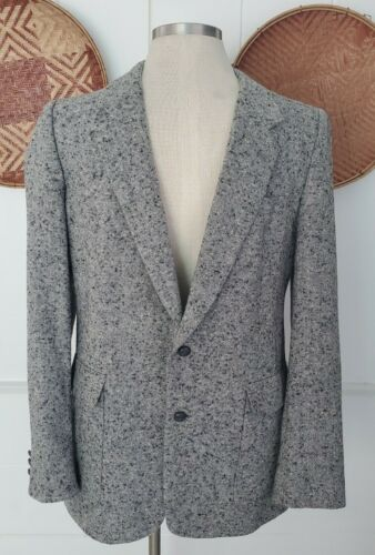 Vintage Gray Fleck Sportcoat Deweys Ca. 44L
