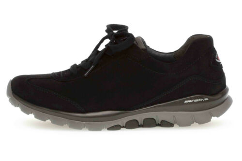 Gabor rollingsoft Sneaker in Übergrößen Schwarz 06.965.47 große Damenschuhe